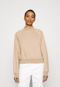 Zign - HIGH COLLAR  - Felpa - light brown - 0