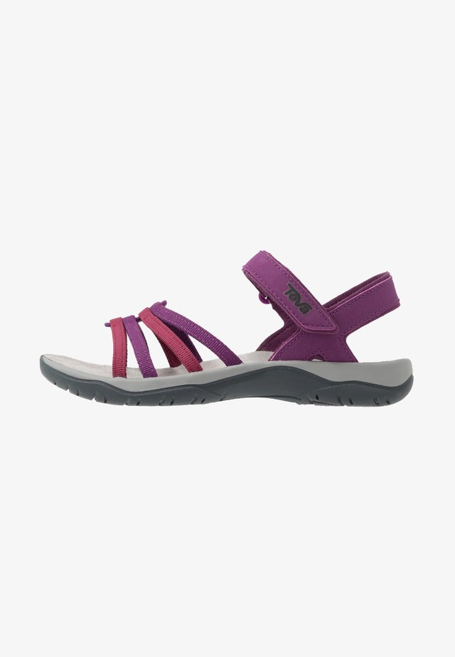 ELZADA - Walking sandals - gloxinia/red plum