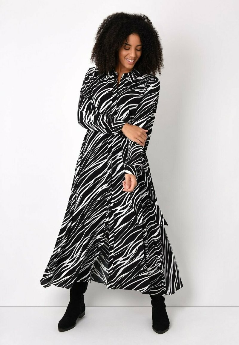 Live Unlimited London - ZEBRA PRINT - Maxi dress - black