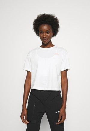CROPPED SIMPLE DOME TEE  - T-shirts - gardenia white/peach pink