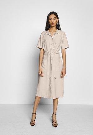 TWILL  DRESS - Shirt dress - stone