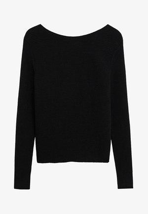 MARGOT - Stickad tröja - black