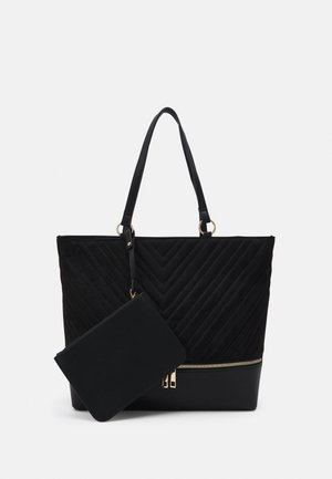LUCY QUILTED TOTE - Tote bag - black