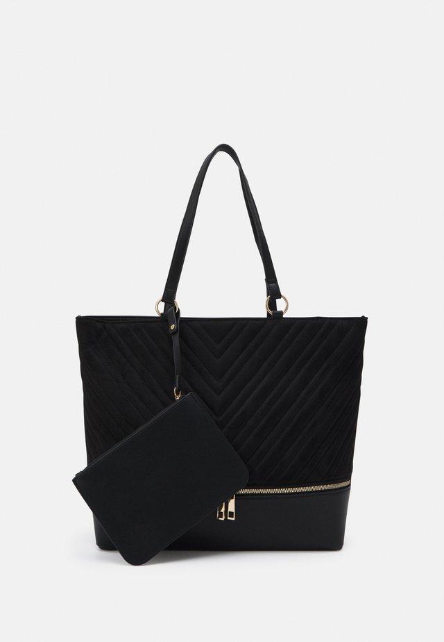 LUCY QUILTED TOTE - Shopping Bag - black