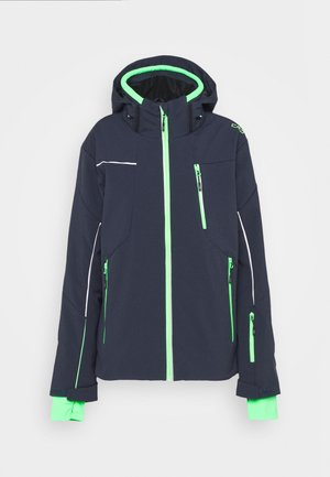 MAN JACKET ZIP HOOD - Skijacke - black