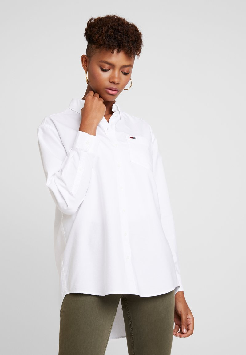 Tommy Jeans - CLASSICS - Button-down blouse - white