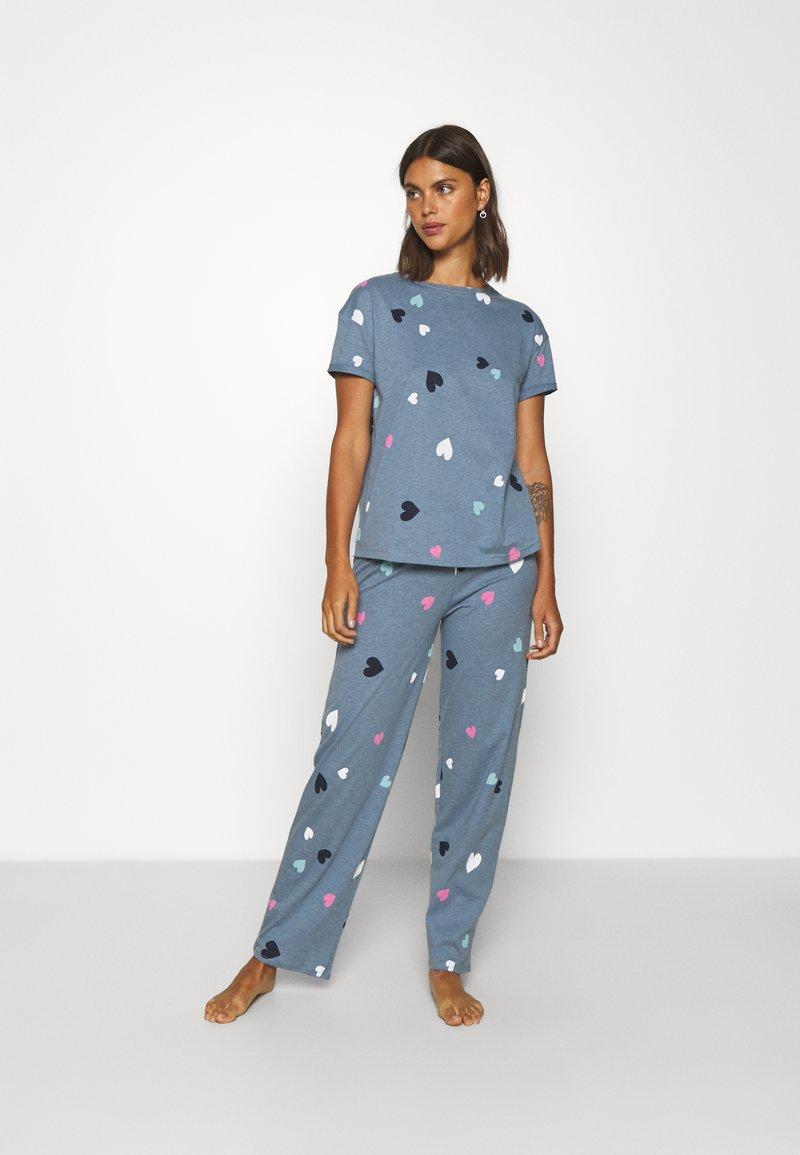 Marks & Spencer London - HEART  - Pyjamas - blue mix