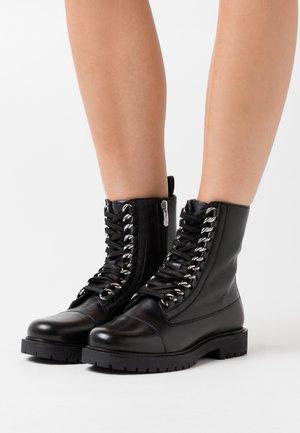 ROCK - Snørestøvletter - black