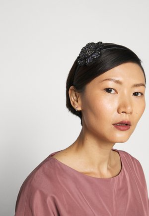 FLORAL HEADBAND SKINNY - Hair styling accessory - black