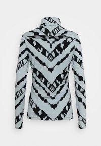 Proenza Schouler White Label - SHEER STRETCH TNECK SLIT - Long sleeved top - steel blue chevron - 7