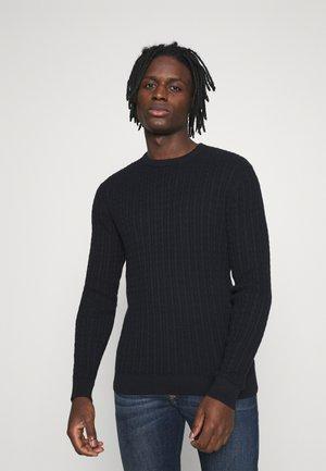 JJQUINTON CREW NECK - Stickad tröja - navy blazer