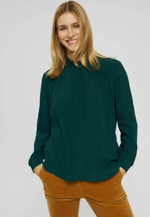Button-down blouse - teal green