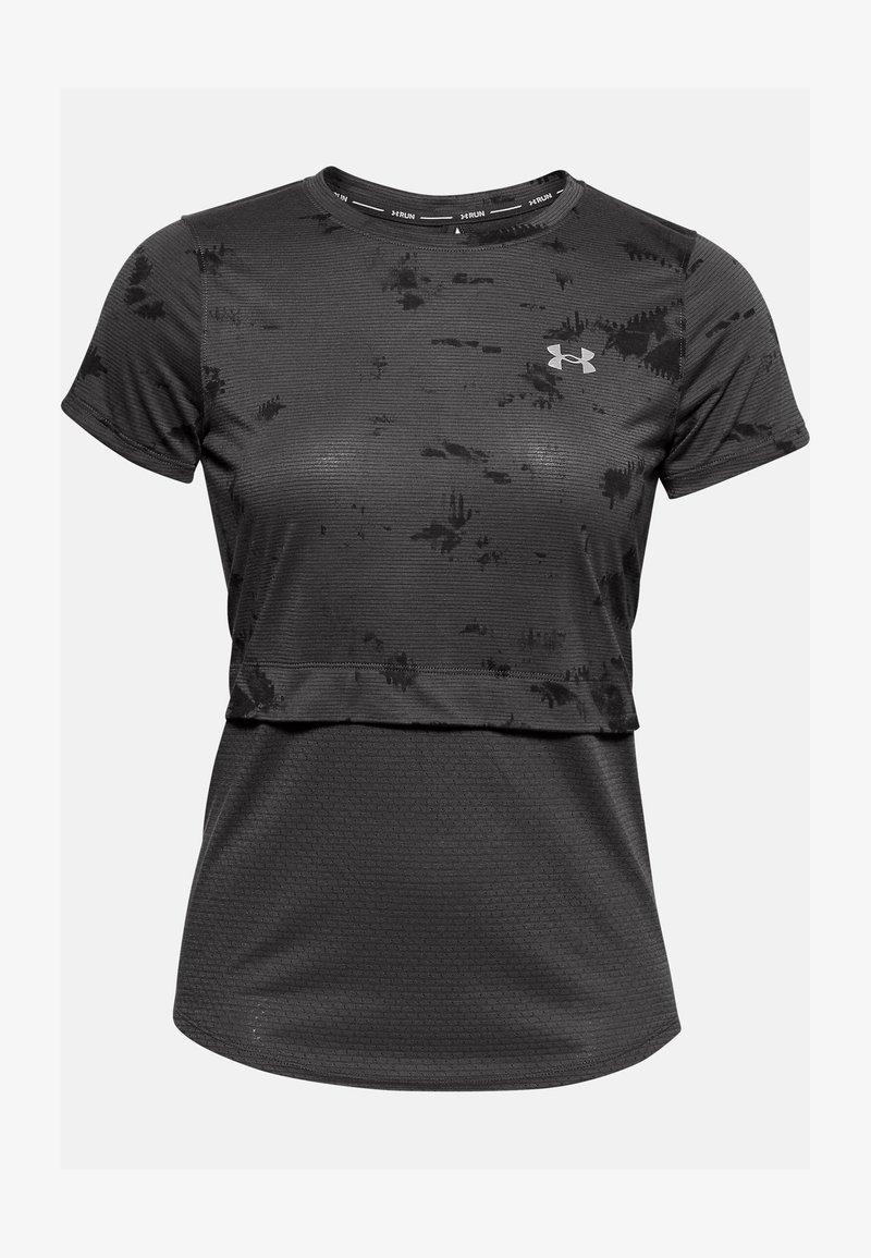 Under Armour - UA STREAKER INVERSE SS - Print T-shirt - jet gray