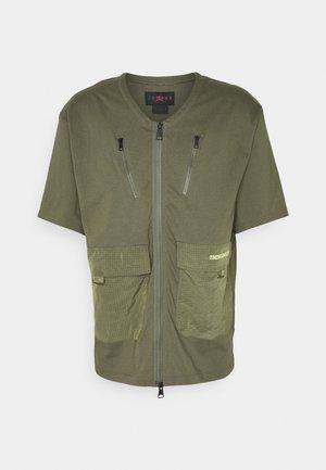 Zip-up sweatshirt - medium olive
