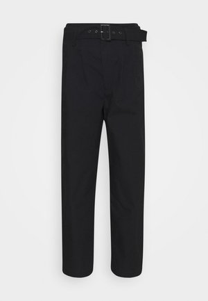 TAILOR HIGH LOOSE TAPER - Pantalon classique - soft structure caviar