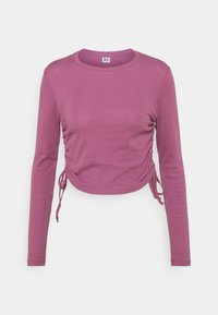 RUCHED  - Long sleeved top - mauve