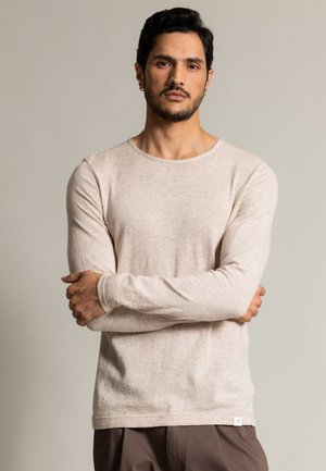 Sweatshirt - sand meliert