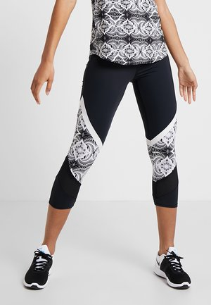 CAPRI LACE UP - Leggings - black