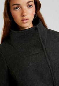 Vero Moda - VMBRUSHED MYRA JACKET  - Fleece jacket - dark grey melange - 3
