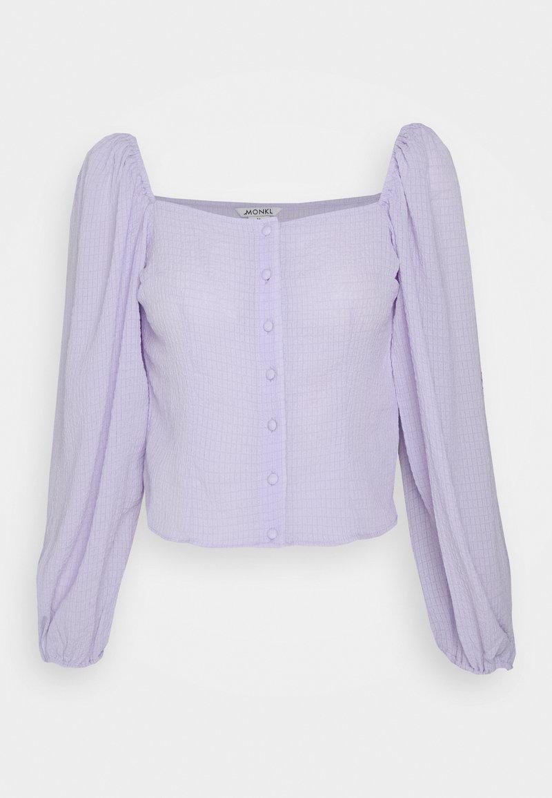 Monki - YLVA BLOUSE - Blouse - lilac solid