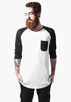 URBAN CLASSICS HERREN LONG RAGLAN 3/4 SLEEVE POCKET TEE - Long sleeved top - black