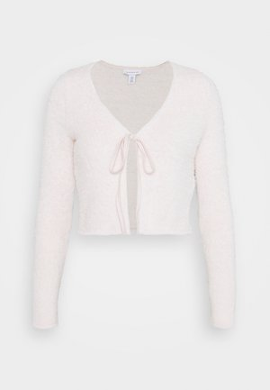 TIE FRONT  - Kardigan - pale pink