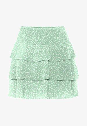 Spódnica trapezowa - neptune green