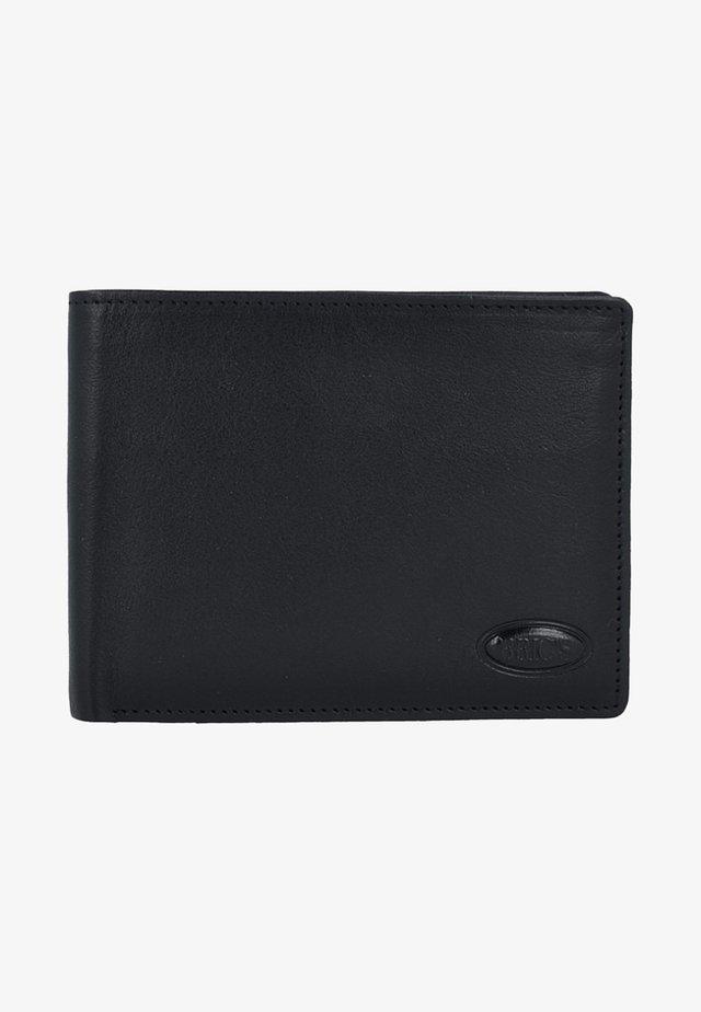 MONTE ROSA GELDBÖRSE RFID LEDER 12,5 CM - Portemonnee - black