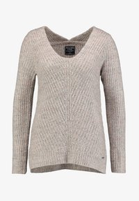 Abercrombie & Fitch - LONG FUZZY - Svetr - pink/grey - 4