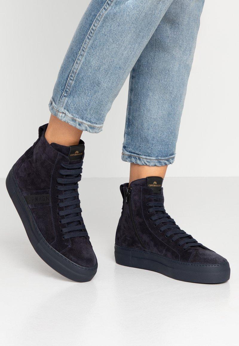 Copenhagen - Höga sneakers - navy