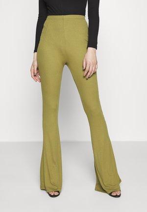 FLARE - Trousers - khaki