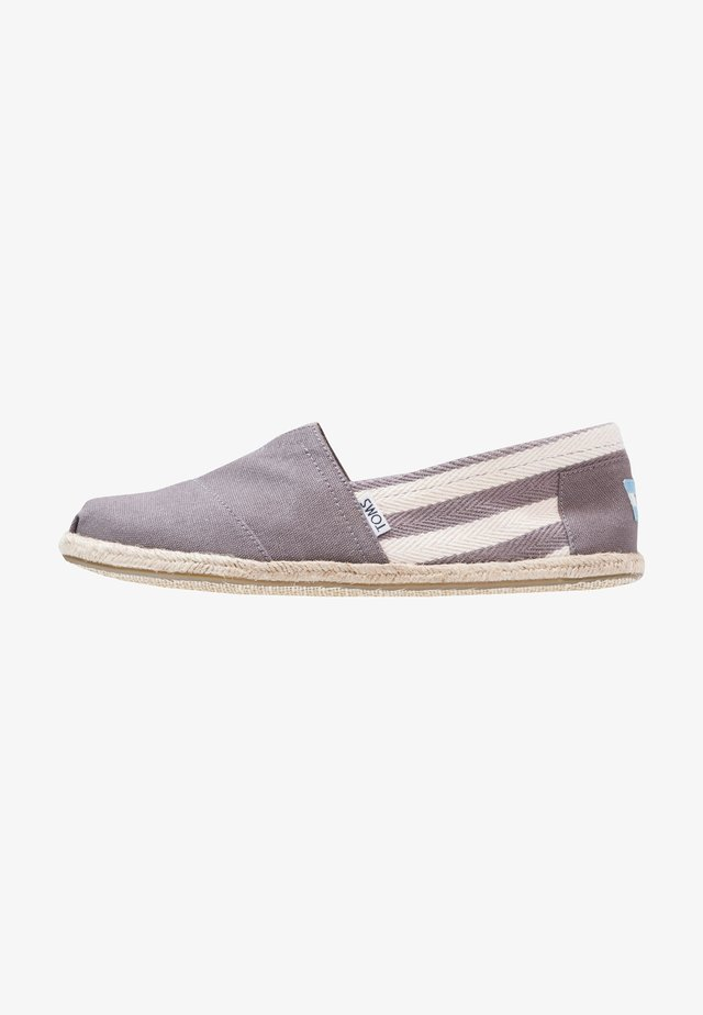 Espadrilles - dark grey