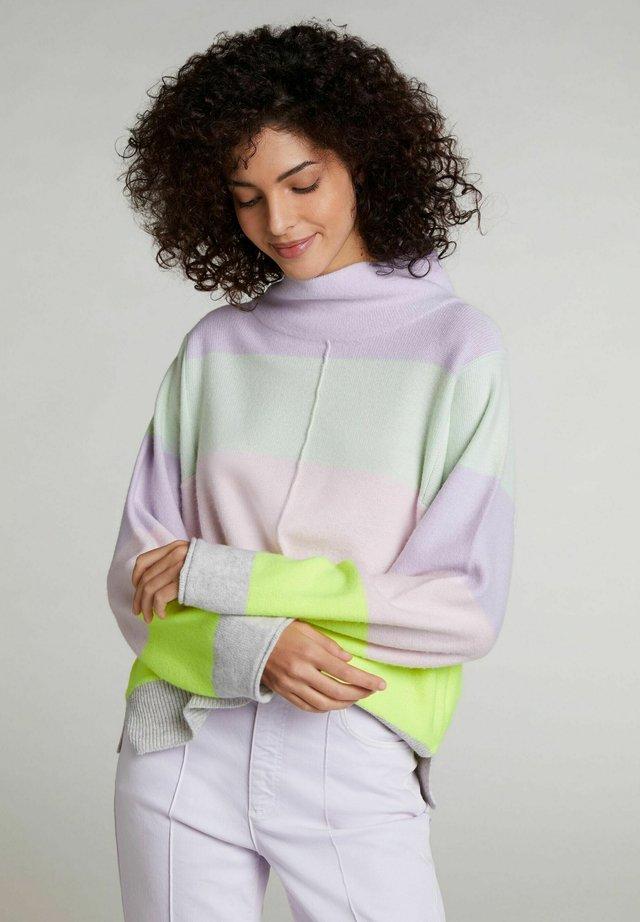 Pullover - lt grey yellow