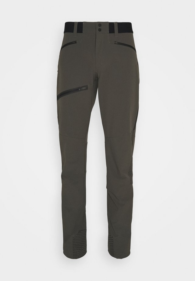 LIGHT PANTS - Kalhoty - black/olive