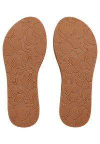 Roxy - LORRAINE  - T-bar sandals - light brown - 2