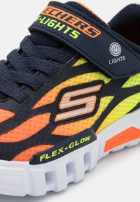 Skechers - FLEX GLOW - Trainers - navy/orange/yellow - 5