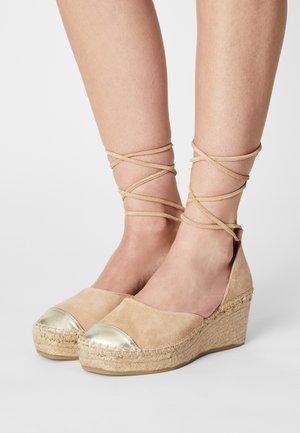 Platform heels - sand