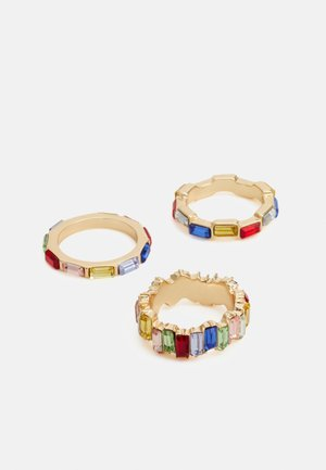 PCEDITH 3 PACK - Ringar - gold-coloured