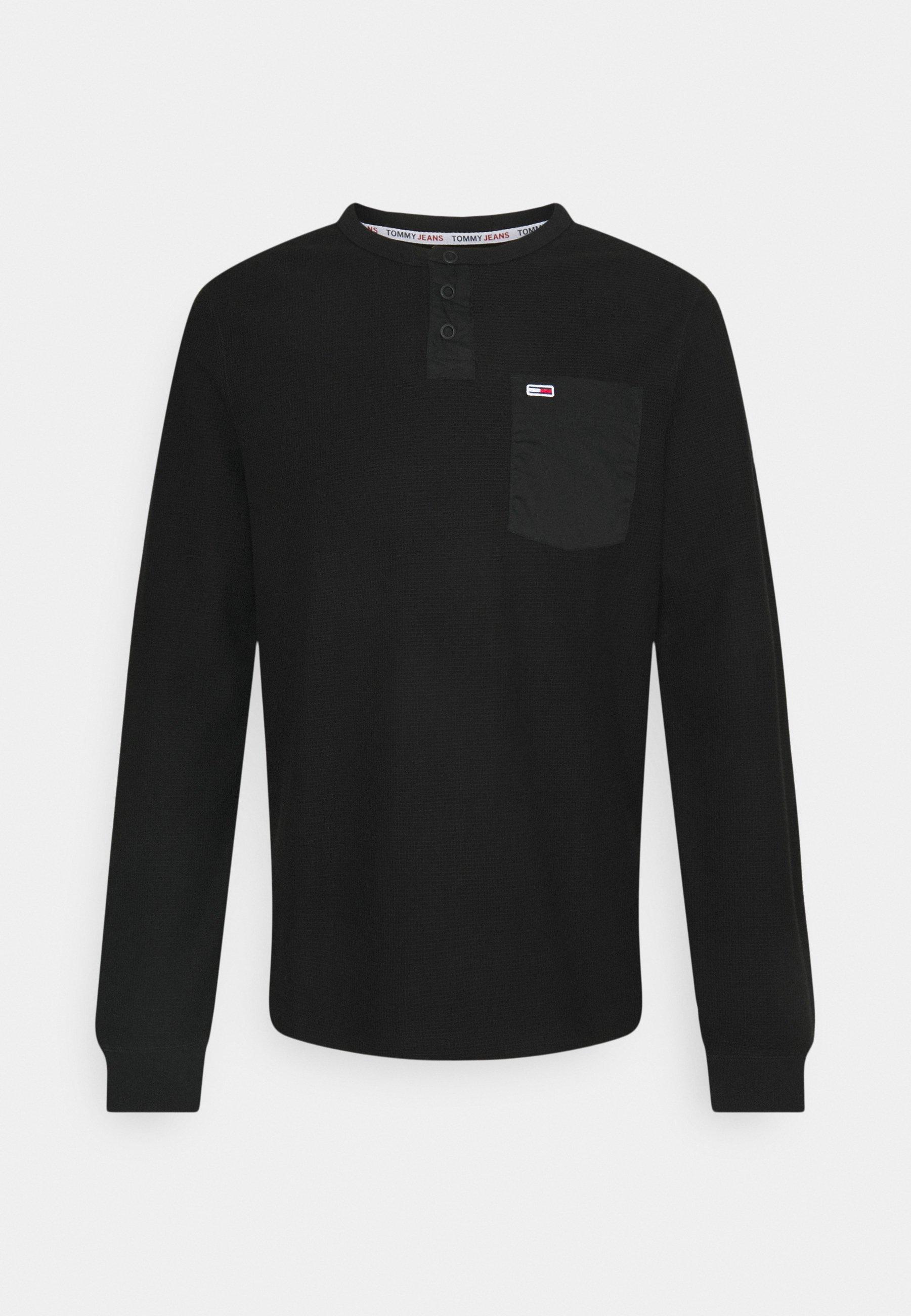 Men POCKET HENLEY - Long sleeved top