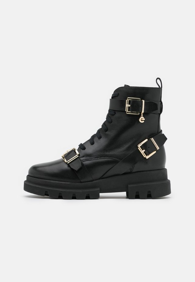 FAN - Cowboy/biker ankle boot - black