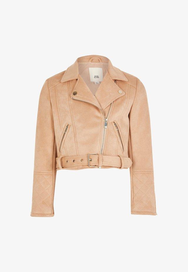 Faux leather jacket - cream