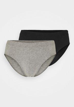 3PACK Slips Supermini Organic Cotton - 95/5 Essentials - Briefs - dark blue/grey/black