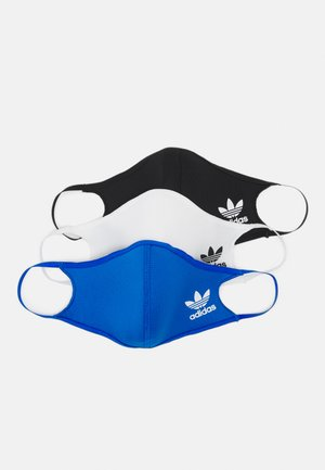 FACE COVER SMALL UNISEX 3 PACK - Community mask - black/white/bluebird