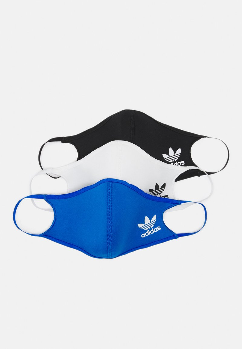 adidas Originals - FACE COVER SMALL UNISEX 3 PACK - Community mask - black/white/bluebird