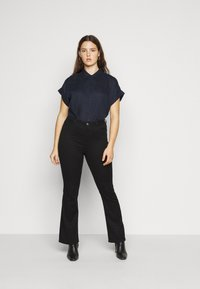 Lauren Ralph Lauren Woman - BROONO SHORT SLEEVE - Button-down blouse - navy - 1