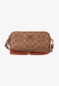 Coach - COLORBLOCK COATED SIGNATURE KIRA CROSSBODY - Umhängetasche - tan rust - 4