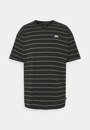 STRIP TEE UNISEX - T-shirt con stampa - black/khaki