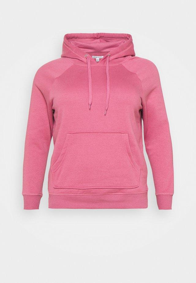 PULL ON HOODIE - Sweater - raspberry