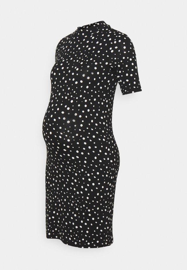 MLELAINA DRESS - Jerseyjurk - black/snow white dots