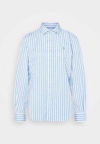 GEORGIA LONG SLEEVE - Button-down blouse - blue/white